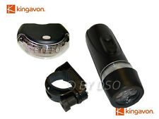 Kingavon Front and Rear LED Bicycle Lamp Set