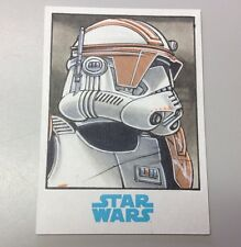 Star Wars Journey to the Force Awakens Topps Trooper Sketch Card -Mikey Babinski