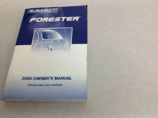 2000 Subaru Forester Operators Owner Owners Manual OEM Factory x 2000