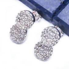 FOREVER! LOVE! PAVE CZ INFINITY .925 Sterling Silver Earring