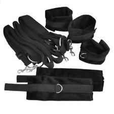 Under Bed Restraint System Kit Set Soft Faux Fur Wrist Cuffs Straps Adult Fun