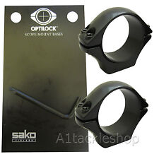 Optilock 30mm Low Scope Rings for Sako or Tikka Mounts