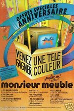 Publicité advertising 1986 Les Magasins Monsieur meuble
