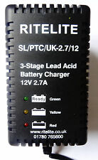 AC12025- 12v 2.7Amp Lead Acid Battery Charger for 12v 10Ah batteries upwards