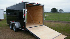6x12 IN STOCK NOW Enclosed Cargo Trailer Tandem Motorcycle Utility14  CALL NOW !