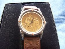 John Wayne The Western Legend Wrist Watch Sterling 925 Silver Franklin Mint RARE