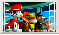 3D Window PAW Patrol Marshall Chase Zuma kids decor wall Decal sticker Mural Art