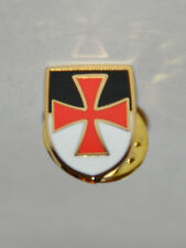 Knights Templar Cross with VB Banner Shield Gold Plated Pin (LP033)