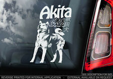 Akita Japanese - Car Window Sticker - Dog Sign -V01