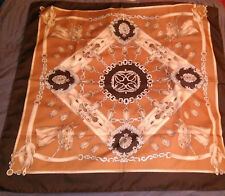 Vintage Brown Horse Head Equestrian Theme Polyester scarf 73 x 75 cm