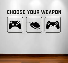 Gamer Wall Vinyl Sticker Decal - Gaming / Game Room, Man Cave, Bedroom Wall Art