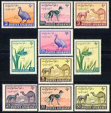 Afghanistan 1961 Animals/Birds/Dog/Horse 10v set n26225