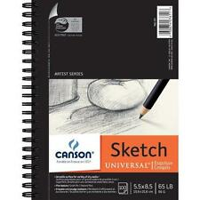 "Canson Artist Series Universal Sketch Pad, 5.5""X8.5"" Side Wire New"