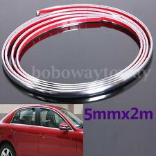 5mmx2m Chrome Car Auto Door Styling Moulding Decor Trim Strip Adhesive Protector