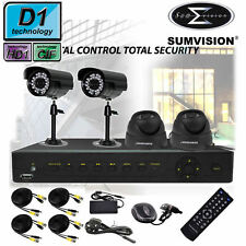 Sumvision 500GB 8 Channel Ch CCTV Security System DVR Kit WIth 4 Color Cameras