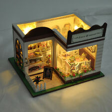 Handmade Wooden Doll Houses Toys DIY Miniature Model Kit Perfect Children Gifts