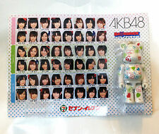 new~ Japan Medicom AKB48 100% Be@rbrick Bearbrick White Version Keychain