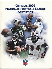 OFFICIAL 2002 NATIONAL FOOTBALL LEAGUE STATISTICS BOOK NFL