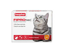 Beaphar FIPROtec Spot On for Cats, 3 X Treatment against Fleas Ticks