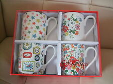 CATH KIDSTON LARCH MUG  SET OF 4  MULTI STARS  NEW