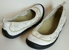 Privo by Clarks size 8.5 Luca womens ballet flats slip on white green floral