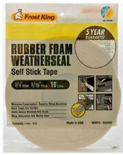 """NEW FROST KING R534WH WHITE FOAM WEATHER STRIPPING TAPE SELF ADHESIVE 3/4"""" 10FT"""