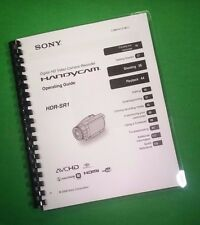 COLOR PRINTED Sony Video Camera HDR SR1 Manual User Guide 139 Pages