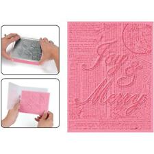Joy & Merry By Hero Arts - Textured Impressions A2 Embossing Folder & Sta