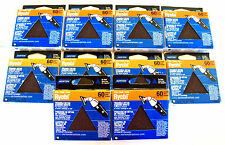 100 NORTON TRIANGLE DETAIL SANDING DISC SHEETS 60 GRIT 49284 FITS RYOBI USA MADE