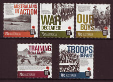 AUSTRALIA 2014 CENTENARY OF WWI, SET 5 UNMOUNTED MINT, MNH