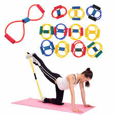 Resistance Band Yoga Pilates Abs Exercise Stretch Fitness Tube Workout Bands FT