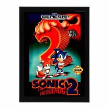 Sega Genesis SONIC THE HEDGEHOG 2 GAME Box Cover Framed Photo Game Room Mancave