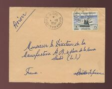 FRENCH SAHARA KIDAL MALI SENEGAL AOF 15F by AIRMAIL 1957
