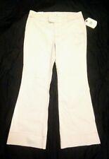 IZOD Women's Stretchy Beige Wide Leg Denim Jeans Size 12 NWT