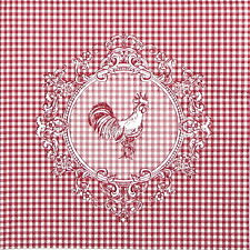 4x Single Table Party Paper Napkins for Decoupage Decopatch Craft Rooster Red