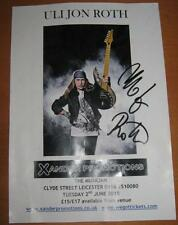 Uli Jon Roth The Scorpions (Band) Signed Gig Poster Genuine In Person