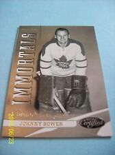 2012-13 Panini Certified Immortals # 128 Johnny Bower!  serial no. 659/999