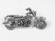 Classic motorbike, English Pewter Pin Badge