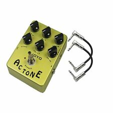 Joyo JF-13 AC Tone Vox AC30 Amp Simulation Guitar Effect Pedal w/ 2 Patch Cables
