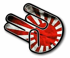The SHOCKER Hand With RISING SUN JDM Drift Style Flag vinyl car sticker decal