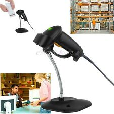 Automatic Barcode Scanner USB Laser Scan Bar Code Reader With Stand Handheld POS