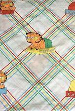 GARFIELD Twin Sheet Flat Fabric Vintage Cutter Material Craft Cat Cartoon Muslin