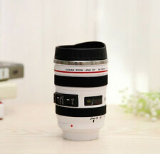White Canon Caniam EF 24-105mm Camera Lens Thermos Stainless Steel Tea Mug Cup