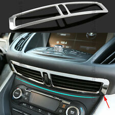CHROME CENTRAL DASHBOARD AIR VENT FRAME COVER TRIM FOR FORD ESCAPE KUGA 13-16