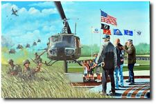 Almost Home by Joe Kline - UH-1 Huey - Helicopter Art Prints