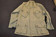 Vietnam War Men's Tropical Jungle Jacket / Shirt 1st Pattern exposed buttons