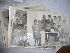 VINTAGE LOT OF 5 PHOTOs OF AFRICAN AMERICANS 1940's TO 1960's