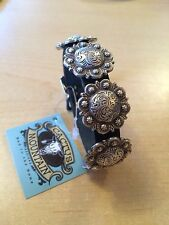 Beautiful Western Concho Leather Bracelet Cowgirl