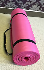 Thick Foam Yoga Gym Mat 15mm Pilates Exercise Training Workout Nonslip Fitness