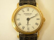 Raymond Weil Model 5718 Ladies 18k Gold EP Quartz Watch White Roman Dial